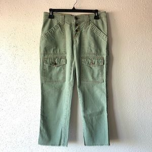 Joie | Green Cropped Cargo Pants